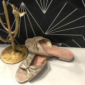 Gold Kate Spade Slip On Sandal